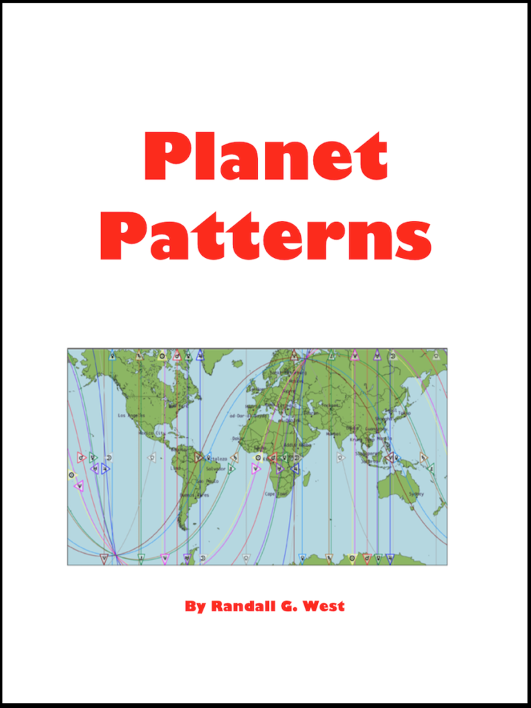 PlanetPatterns, a book by Randall G. West, originally published in 2004. This book is 72 pages and includes the 85 different unique lines (40 lines and 45 combinations) and combinations for PlanetPatterns around the globe. Photo by Randy.